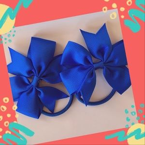 👶5/$25 Electric Blue Elastic HairTies Ponytail